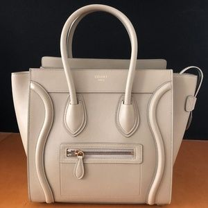 CELINE MICRO LUGGAGE HANDBAG IN CALFSKIN